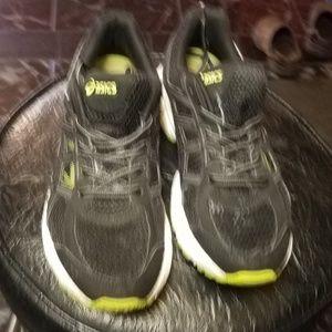 Asics Shoes - Asics Running shoes C707N Size 6.5 Black/Green
